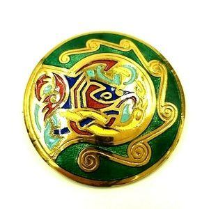 Vintage Jewelry Celtic Enamel Pin Tara Ware Of Dublin Poshmark